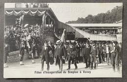 Vevey Gare/Train/ Fêtes D' Inauguration Du Simplon - VD Vaud