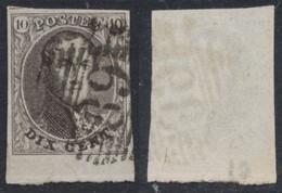 "Médaillon - N°10 Margé + Grand BDF Obl P89 ""Nivelles"" - 1858-1862 Medaillons (9/12)"