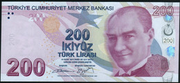 ♛ TURKEY - 200 Lirasi L.1970 - 2009 UNC P.227 B - Turquie