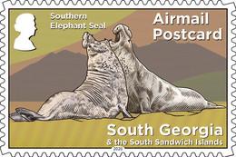 South Georgia 2020 Definitive Fauna Southern Elephant Seals 1v MNH - Other