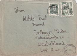 POLOGNE 1953 LETTRE DE ZIELINA - Storia Postale