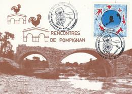 4 EMES RENCONTRES DE POMPIGNAN GARD 1991 - Commemorative Postmarks