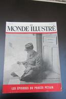 Le Monde Illustré épisodes Du Procès  Pétain Août 1945 - Documents