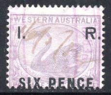 FISCAUX-POSTAUX 1892 - YT 4  SURCHARGE I. R. SIX PENCE COTE 125 € - Oblitérés