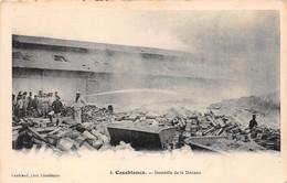 ¤¤  -  MAROC   -   CASABLANCA    -    Incendie De La Douane    -  ¤¤ - Casablanca