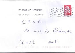 MARIANNE L ENGAGEE N° 5253 SUR LETTRE DU 01.10.20   // SANS PHOSPHORE // - 2018-... Marianne L'Engagée