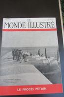Le Monde Illustré Procès Pétain Juillet 45 - Documents