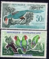 Centrafricaine P. A. N° 7 / 8 X Oiseaux Divers, Les 2 Valeurs Trace De Charnière Sinon TB - Centrafricaine (République)
