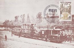 INAUGURATION STATION RER CHATELET-LES HALLES 1977 - Commemorative Postmarks
