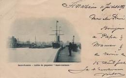 Marine Paquebot Saint Nazaire Sortie Du Saint Germain Précurseur Pionnière Circulée 1898 - Piroscafi