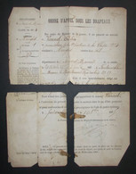 Ordre D'appel Sous Les Drapeaux Daté De 1875 - Seine Et Marne - Nangis - Protagoniste Dénommé Charles Vannel - Documents