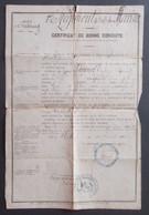Certificat De Bonne Conduite Daté De 1880 - Cherbourg - 1er Régiment D'Infanterie De Marine - Protagoniste De Nangis - Documents
