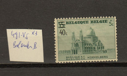 Belgie - Belgique Ocb Nr : 481 - V5 ** MNH   (zie  Scan) - Errors (Catalogue COB)
