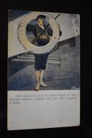 Italia Cartolina Postale Italiana In Franchigia Illustrator Finozzi / Annullata / WW1 Sailor - Guerra 1914-18