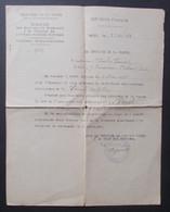 Trois Documents Militaires Datés De 1938 - Constats De Services - Protagonistes De Nangis En Seine Et Marne - Documents