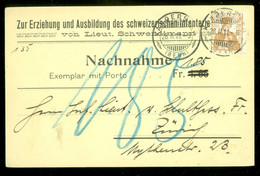 TAXE * PORT BELAST * NACHNAHME Uit 1911 Van KANDERSTEG ZWITSERLAND Naar ZURICH  (11.847g) - Strafportzegels