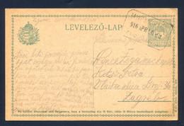 HUNGARY, CROATIA - Stationery Sent From Murasiklos Postal Ugyn (Vratišinec, Postal Agency) To Zagreb 1916. - Cartas