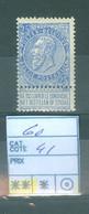60 Xx  Côte 41€ - 1893-1900 Thin Beard