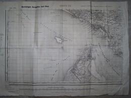 CARTE ZONE DE ROYAN IGN 1939 REUTILISATION ALLEMANDE 1942 - Documents