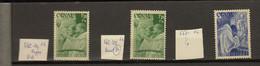 Belgie - Belgique Ocb Nr : 562 - V4 V8 + 563 - V ** MNH   (zie  Scan) - Abarten (Katalog Luppi)