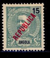 ! ! Angola - 1914 D. Carlos Local Republica 15 R - Af. 159 - MH - Angola