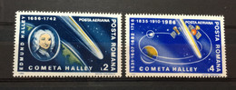 (1667) ROMANIA 1986 : Sc# C269-C270 HALLEY'S COMET ASTRONOMY - MNH VF - Unused Stamps