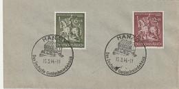 """Deutsches Reich / 1944 / Mi. 860/861 """"Goldschmiedekunst"""" Auf Blancobrief SSt. """"HANAU-Goldschmiedehaus"""" (C025) - Briefe U. Dokumente"""