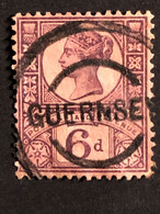 SG208 Yv 100  6d Purple On Red Catalogue Value £15 - Used Stamps
