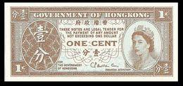 ♛ HONG KONG - 1 Cent Nd.(1971-1981) {sig. Haddon-Cave} UNC P.325 B - Hong Kong