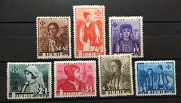 (21) ROMANIA 1936 : Sc# B56-B62 CITIZENS OF BANAT HATEG NEAMT BUCOVINA SALISTE OLTENIA - MH - Unused Stamps