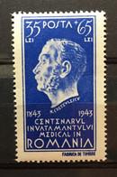 (28) ROMANIA 1944 : Sc# B246 DR CRETZULESCU MEDICAL TEACHING - MNH VF - Unused Stamps