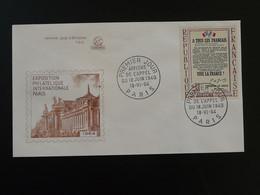 Lettre FDC Cover Affiche De L'appel Du 18 Juin Général De Gaulle Paris Philatec 1964 - 1960-1969