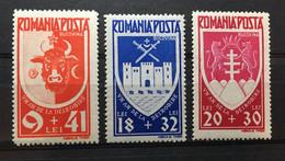 (3372) ROMANIA 1942 : Sc# B198-B200 LIBERATION OF BUCOVINA COAT OF ARMS - MNH VF - Ongebruikt