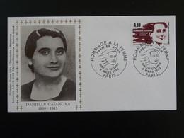 Lettre FDC Cover Danielle Casanova Hommage à La Femme Paris 1982 - Famous Ladies