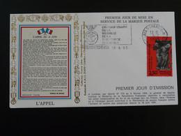 Lettre Commemorative Cover Appel Du 18 Juin De Gaulle Flamme Médaille De La Résistance Paris 1993 - Guerre Mondiale (Seconde)