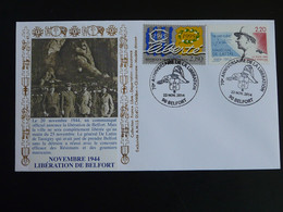 Lettre Commemorative Cover General De Lattre Libération De Belfort 2014 - WW2 (II Guerra Mundial)