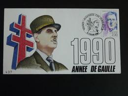 Lettre Commemorative Cover General De Gaulle Levallois Perret 92 Hauts De Seine 1990 - De Gaulle (General)