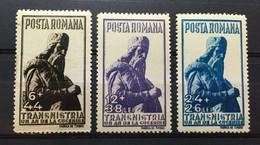 (779) ROMANIA 1942 : Sc# B192-B194 STATUE OF MIRON COSTIN AT JASSY - MNH VF - Unused Stamps