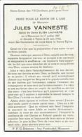 Mouscron. Ypres. Vanneste Jules. 1897 - 1942. **** - Décès
