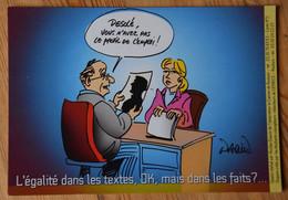 L'égalité ... - Dessin De Nicolas Daquin - Association Le Camion De Roubaix - Délégation Régionale Aux Droits Des Femmes - Satirisch