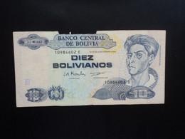 BOLIVIE : 10 BOLIVIANOS   28.11.1986    P 204c     Qualité AB - Bolivia