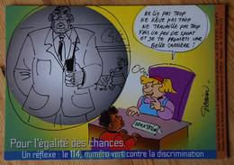 Pour L'égalité Des Chances - Dessin De Nicolas Daquin - Asso Le Camion De Roubaix - Face à La Discrimination Le 114 - Satirisch