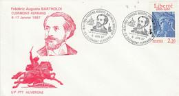EXPO BARTHOLDI à CLERMONT FERRAND 1987 - Commemorative Postmarks