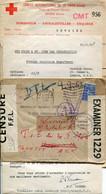 LETTRE ENVELOPPE + COURRIER CROIX ROUGE 1942 CENSURE FFL FORCES FRANCAISES LIBRES LONDON BRAZZAVILLE CONGO RED CROSS - Guerra Del 1939-45