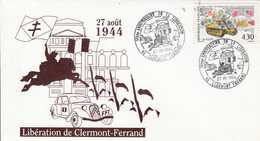 50 ANS LIBERATION DE CLERMONT FERRAND 1994 - Commemorative Postmarks