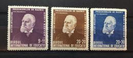 (3221) ROMANIA 1942 : Sc# B188-B190 TITU MAIORESCU - MNH VF - Ongebruikt