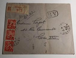 Lettre Affranchie à 3f Paix N°433 Avec Cachets à Date De Puteaux - 1921-1960: Modern Period
