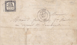 LAC De Brest Timbre Taxe N°5 Obl  GC 611 GRANDE RARETE Peut être Unique 27 03 1875 - 1849-1876: Periodo Classico
