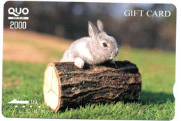 Lapin Rabbit Carte Prépayée Card Japon Animal (D 767) - Telefoonkaarten