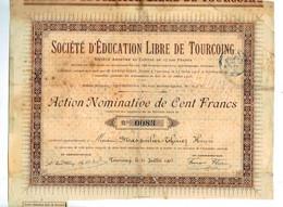 Sociètè D'EDUCATION LIBRE DE TOURCOING 1905 - Non Classés